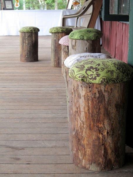 Ideje za stolice u vrtu. Kreativni načini recikliranja.