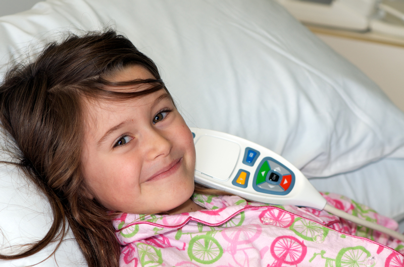 a girl in the hospital