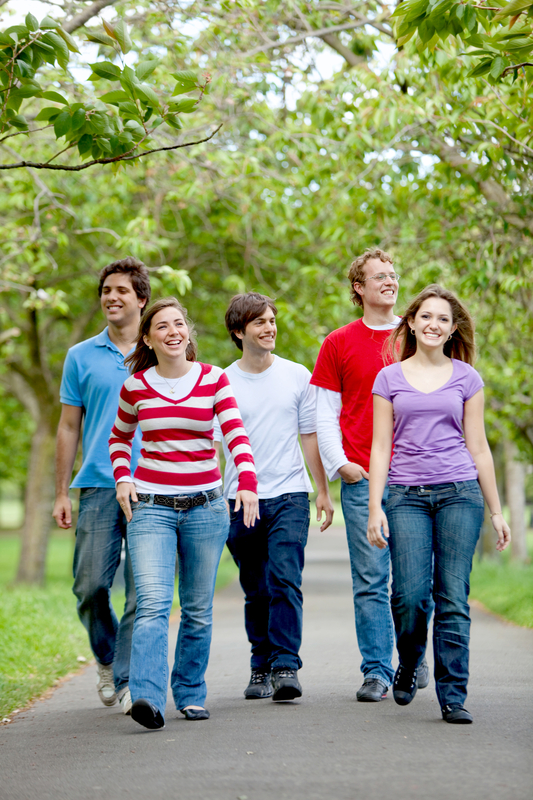 http://www.dreamstime.com/stock-photography-group-friends-walking-image12815782