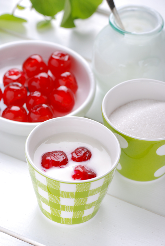 http://www.dreamstime.com/stock-images-low-fat-yogurt-cherries-table-image30971364