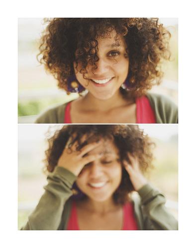 kovrdzava kosa devojka slatka
