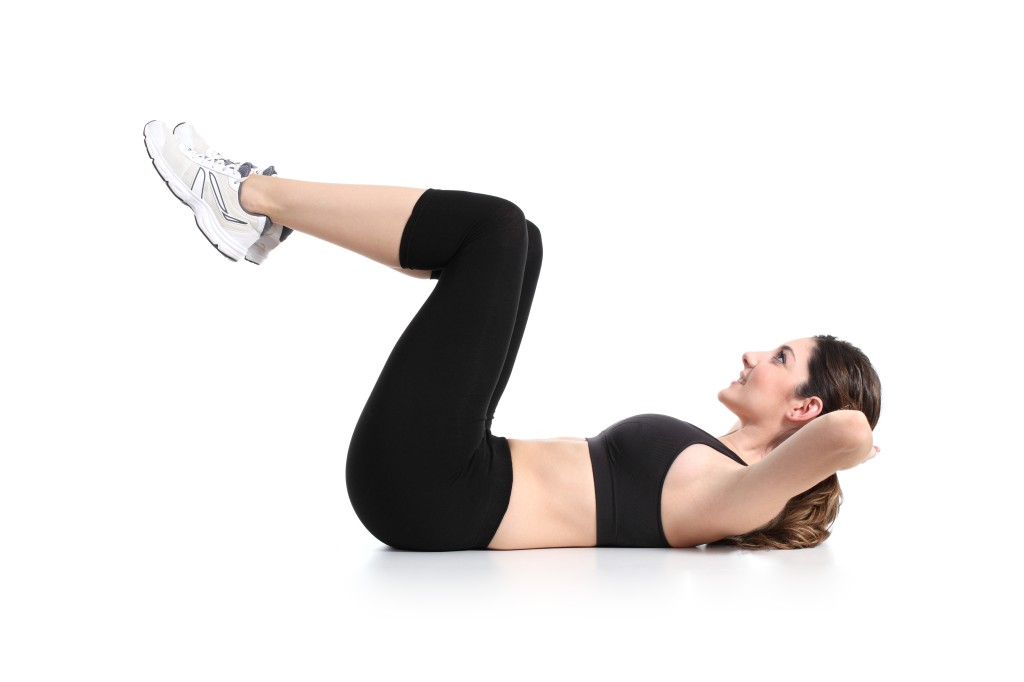 http://www.dreamstime.com/stock-images-beautiful-woman-doing-abdominal-crunches-white-background-image29906334