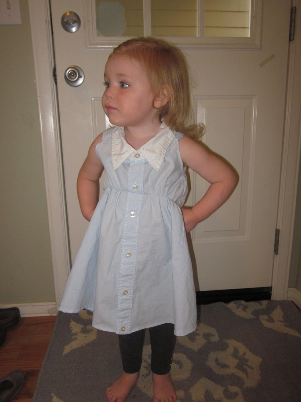 bebi haljina od kosulje 3