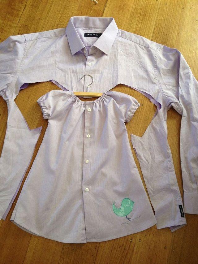 bebi haljina od kosulje