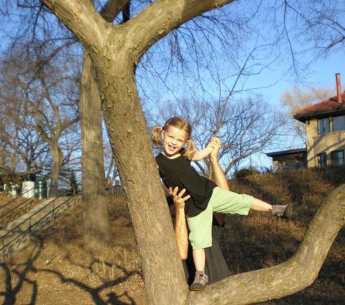 devojcica na drvetu