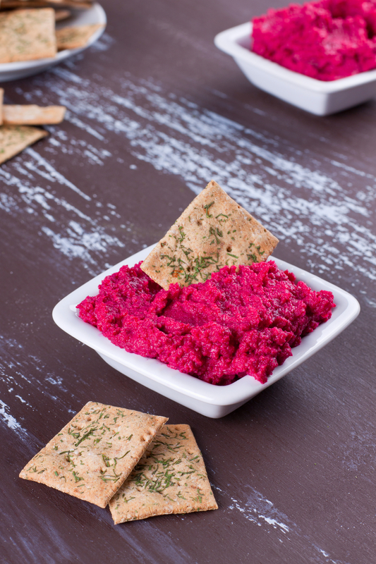 http://www.dreamstime.com/royalty-free-stock-image-portion-hummus-beetroot-crackers-image32028786