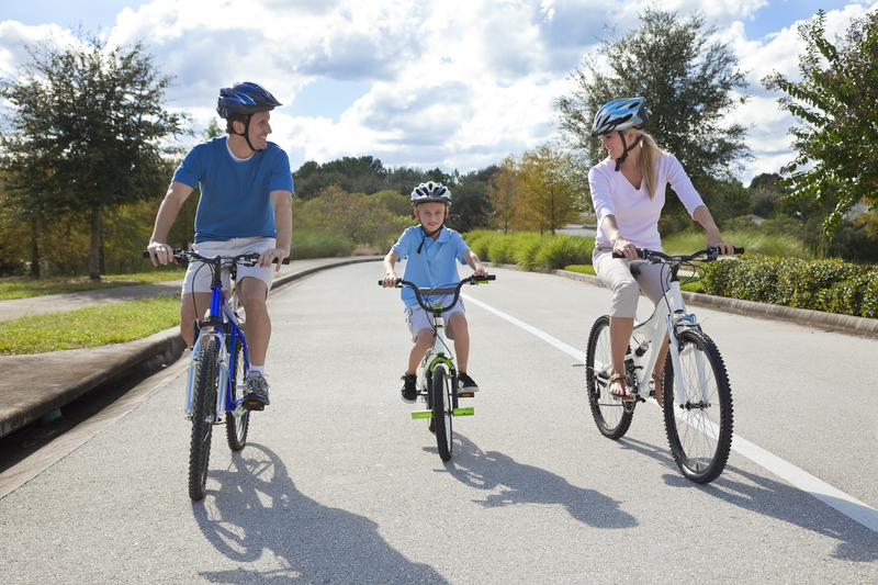 http://www.dreamstime.com/royalty-free-stock-images-young-family-parents-boy-son-cycling-image21924879