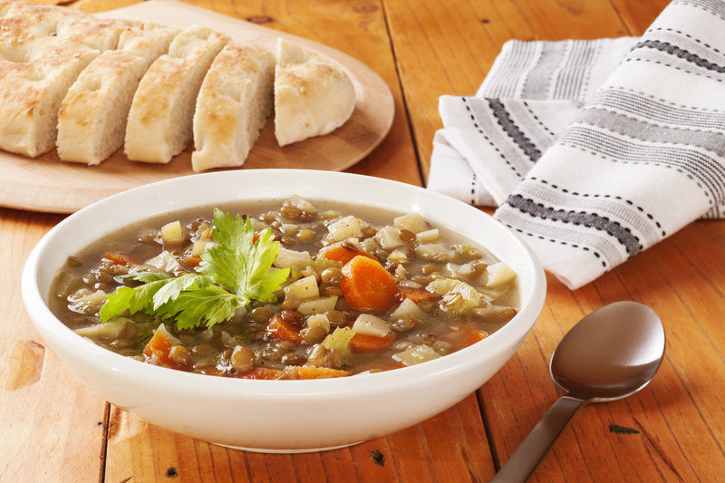 http://www.dreamstime.com/royalty-free-stock-photography-green-lentil-soup-bread-bowl-image33978567