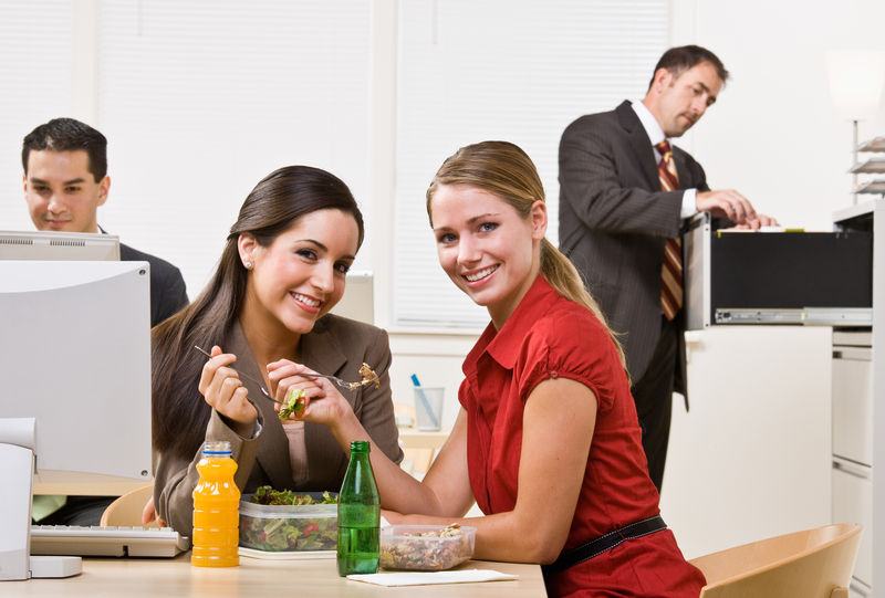 http://www.dreamstime.com/stock-photo-businesswomen-eating-salad-lunch-image17052400