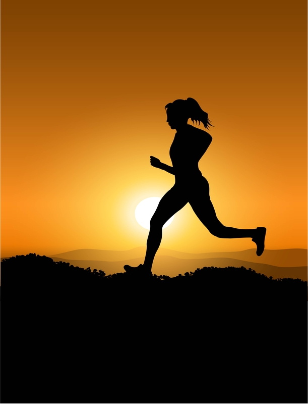 http://www.dreamstime.com/stock-images-woman-running-sunset-image22726944