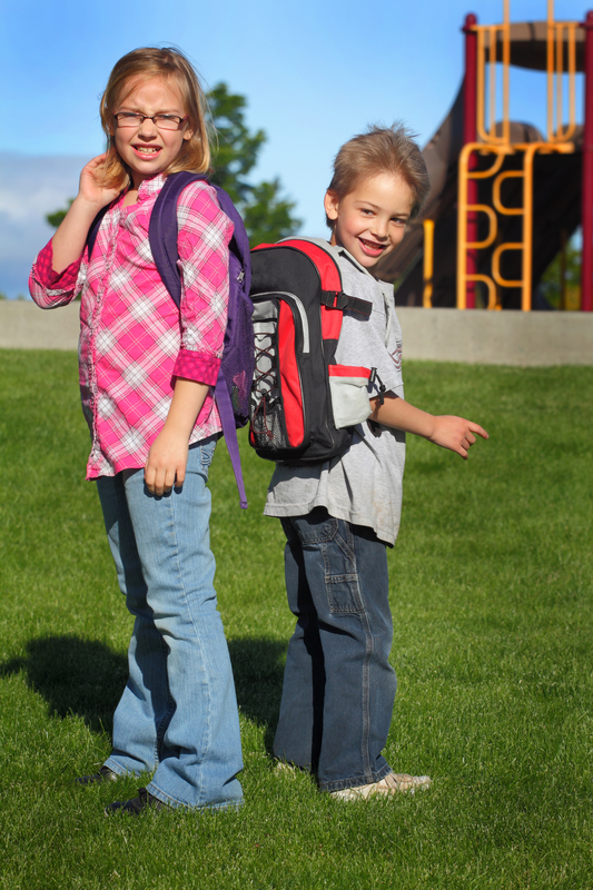 http://www.dreamstime.com/stock-image-two-morning-school-kids-early-shot-typical-elementary-backpacks-image31413041