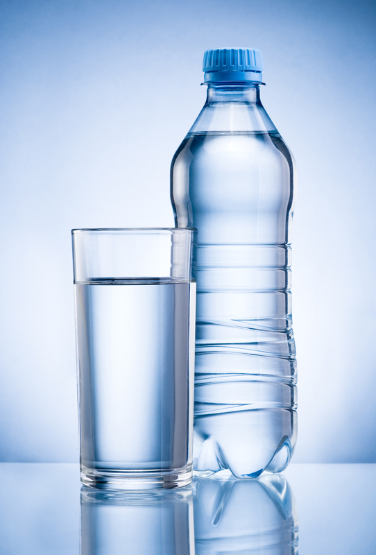 http://www.dreamstime.com/stock-image-plastic-bottle-glass-drinking-water-blue-back-background-image37451641