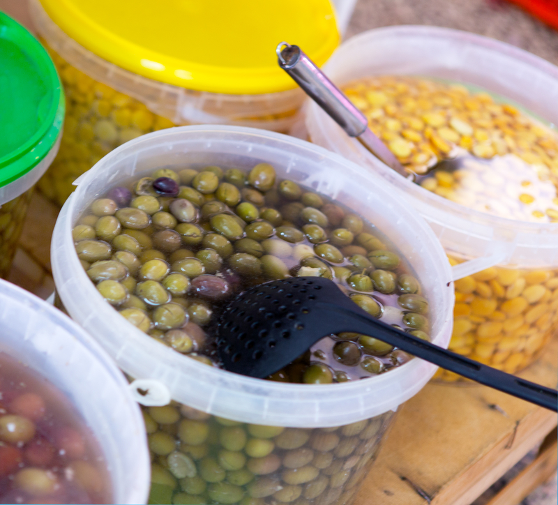 http://www.dreamstime.com/royalty-free-stock-photo-olives-fresh-lupin-beans-farmers-market-image42445705