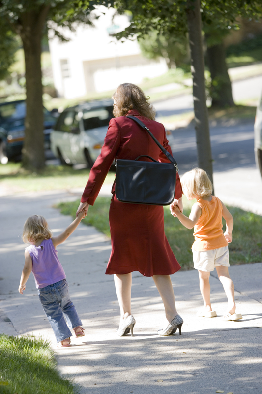 http://www.dreamstime.com/stock-images-working-mom-bringing-her-kids-to-daycare-image4301854