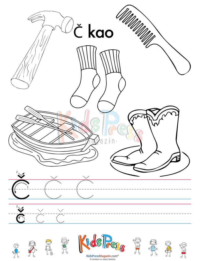 croatian alphabet tracing with colouring_05