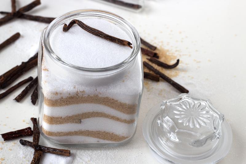 http://www.dreamstime.com/stock-photo-homemade-vanilla-white-brown-sugar-glass-jar-vanilla-sticks-image30239940