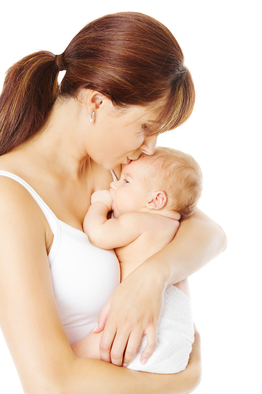 http://www.dreamstime.com/royalty-free-stock-images-mother-kissing-newborn-baby-holding-hand-white-background-over-image37121149