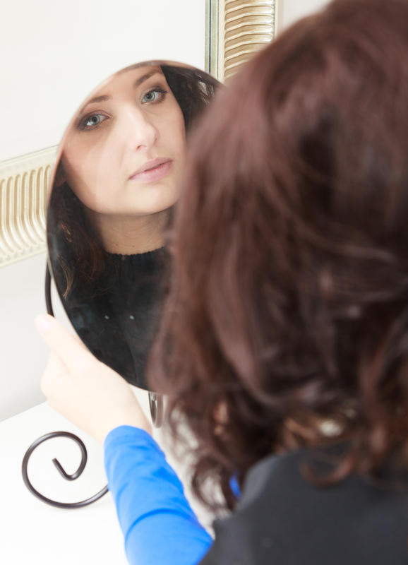 http://www.dreamstime.com/royalty-free-stock-photography-curly-woman-looking-mirror-hairstylist-hairdressing-salon-brunette-young-reflection-hairdresser-image35714577