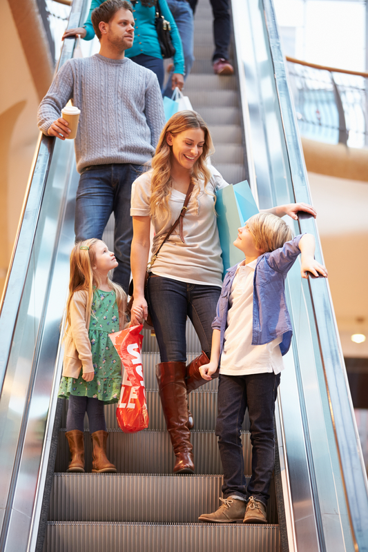http://www.dreamstime.com/stock-images-mother-children-escalator-shopping-mall-talking-to-each-other-image41108514