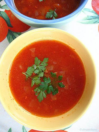 Tomato soupRecipe and more photos athttp://www.sitnoseckano.blogspot.com