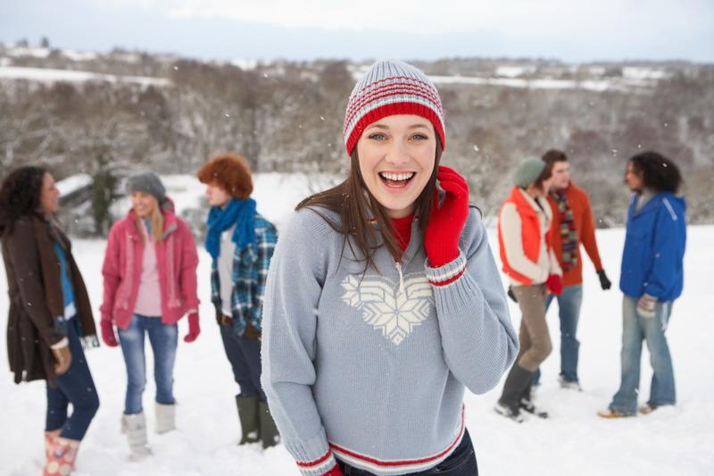 zabava na snijegu