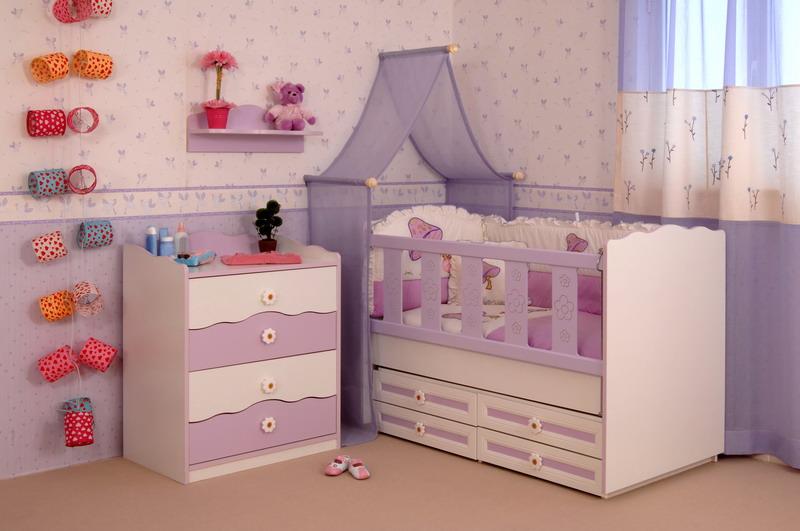 bebi soba ljubicasta