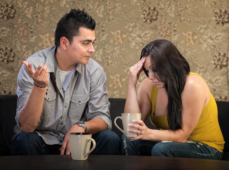depresivna žena sa mužem