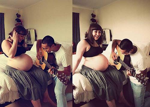 svira gitaru bebi trudnica
