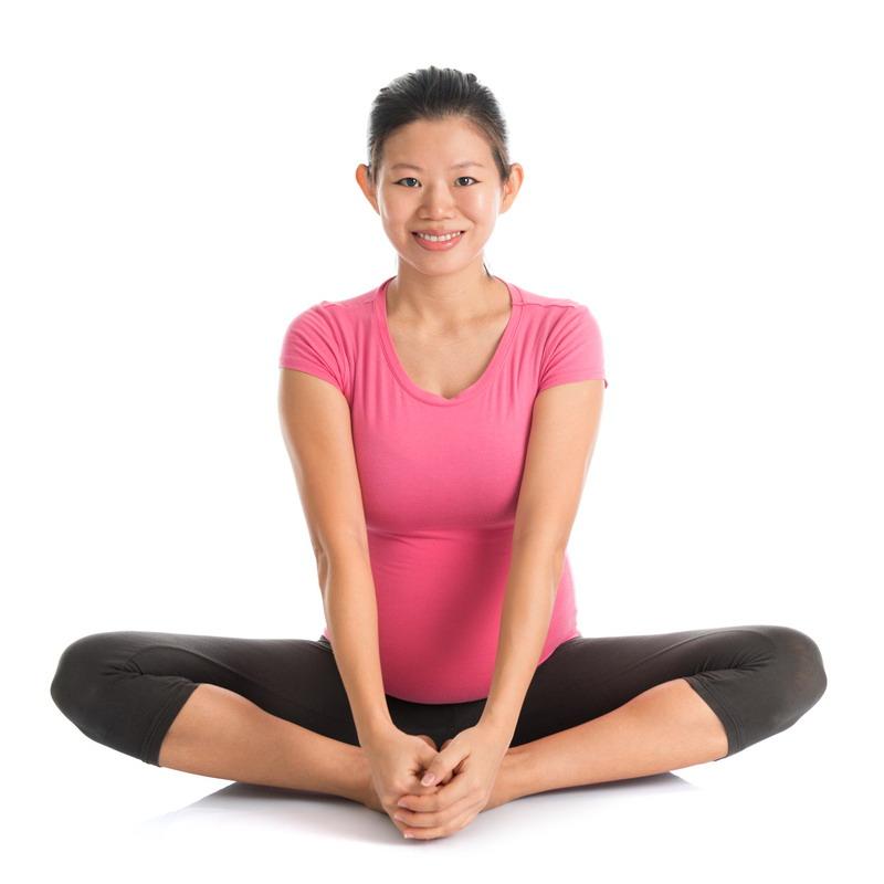 joga u trudnoci leptir poza