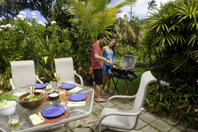 http://www.dreamstime.com/stock-photography-friends-having-barbecue-party-enjoying-lunch-tropical-garden-image32577032