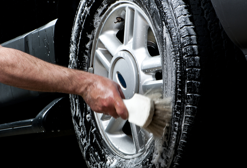 http://www.dreamstime.com/royalty-free-stock-photography-cleaning-tire-car-wash-image20961957