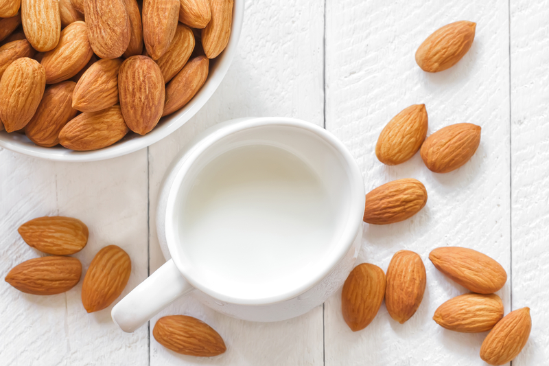 http://www.dreamstime.com/stock-photos-almond-milk-seeds-table-image32871853