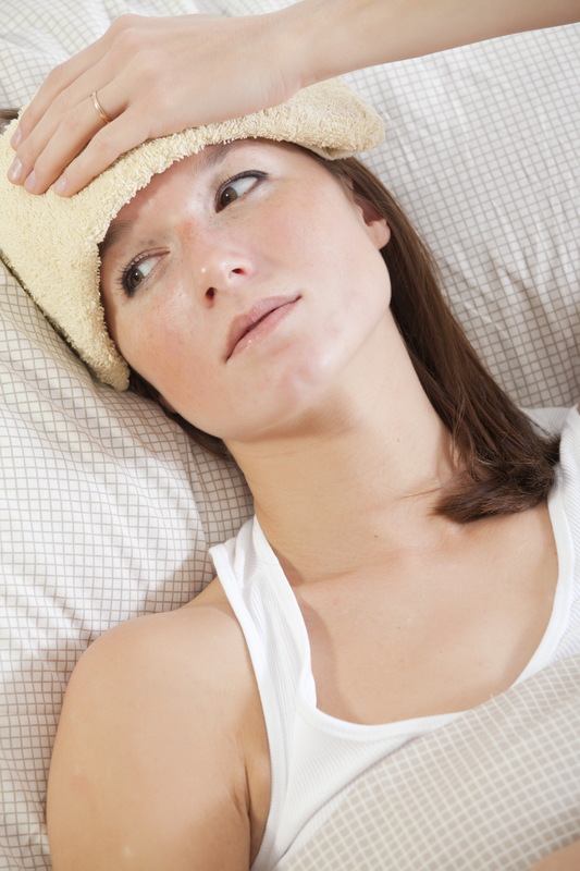http://www.dreamstime.com/stock-images-woman-fever-bed-image17129514