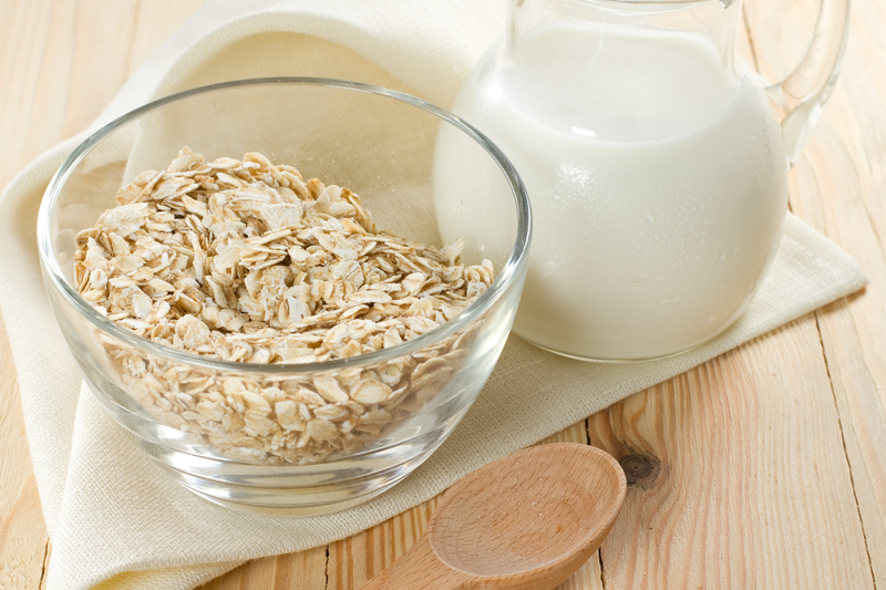 http://www.dreamstime.com/stock-images-oat-flakes-glass-bowl-jug-milk-image26017524